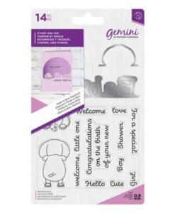 Gemini Peek-A-Boo Stamp & Die - Elephant