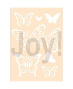 Polybesa Stencil - Vlinders