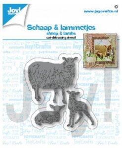 Joy Crafts! Snijmal - Schaap & Lammetjes