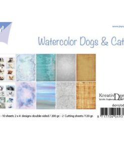 Papierset Bille Design - Aquarell Dogs & Cats