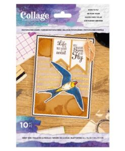 Crafter's Companion Born to Fly - Collage Clearstamp