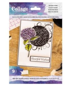 Crafter's Companion Heartfelt Wishes - Collage Clearstamp