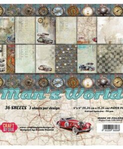 Craft & You Paper Pad – Man's World 15.2 x 15.2