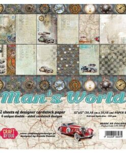 Craft & You Paper Pad – Man's World 30.5 x 30.5
