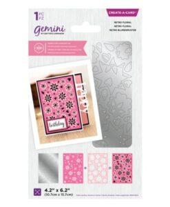 Gemini Dubbelzijdige Snijmal –Retro Floral