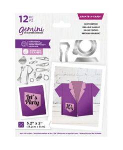 Gemini Shaped Create a Card - Best Dressed