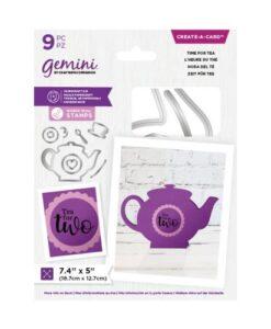 Gemini Shaped Create a Card - Time for Tea