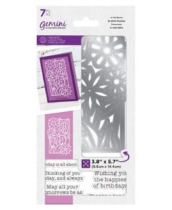 Gemini In Full Bloom - Decorative Outline Stamp & Die Set