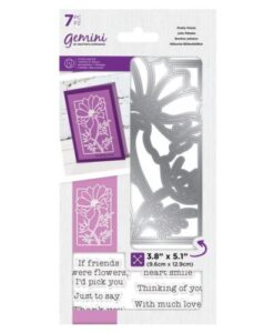 Gemini Pretty Petals - Decorative Outline Stamp & Die Set