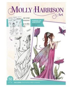 Molly Harrison Clearstamp - Poppies of Amethyst