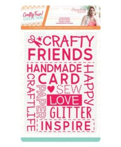 Crafty Fun- Embossing Folder Crafty Friends