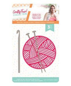Crafty Fun Metal Die - Needles & Yarn