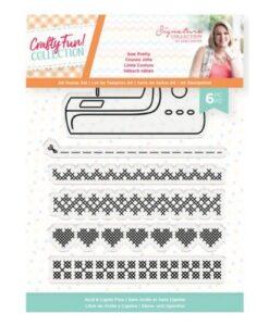 Crafty Fun Clearstamp - Sew Pretty