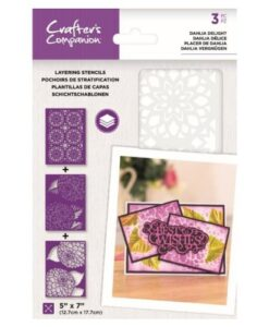 Layering Kaleidoscope Stencil - Dahlia Delight Crafter's Companion