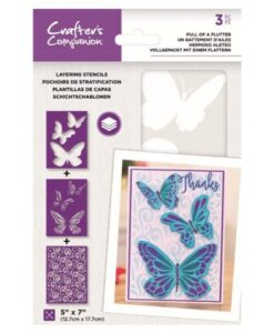 Layering Kaleidoscope Stencil - Full of a Flutter Crafter's Companion