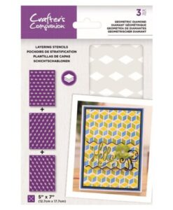 Layering Kaleidoscope Stencil - Geometric Diamond Crafter's Companion