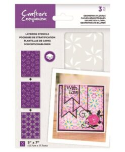 Layering Kaleidoscope Stencil - Geometric Florals Crafter's Companion