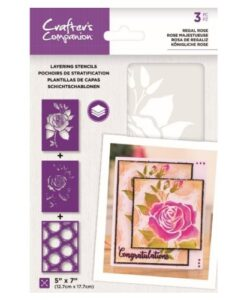 Layering Kaleidoscope Stencil - Regal Rose