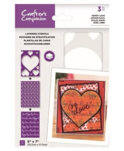Layering Kaleidoscope Stencil - Sweet Love Crafter's Companion