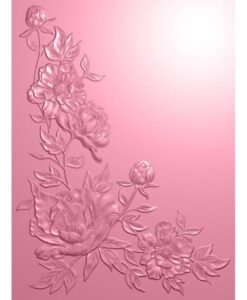 Garden of Love - 3D Embossing Folder Peony Corner Sara Signature Collection