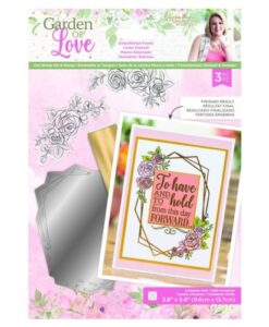 Garden of Love - Foil Die and Clearstamp Set - Embellished Frame