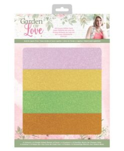 Garden of Love - A4 Luxury Glitter Card Sara Signature Collection