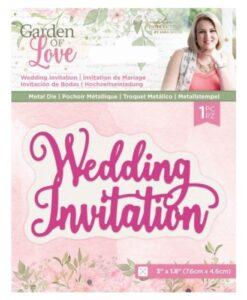 Garden of Love -Metal DieWedding Invitation Sara Signature Collection