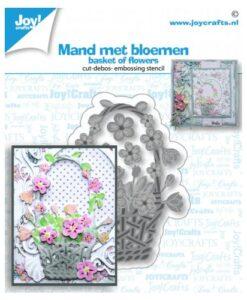 Joy! Crafts Snijmal - Mand met Bloemen