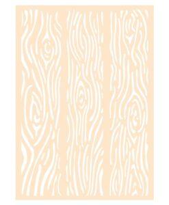 Polybesastencil A6 - Houten planken