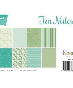 Papierset Design - Mint Patronen