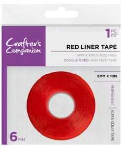 Crafter's Companion - 6 mm Red Liner Double Sided Tape