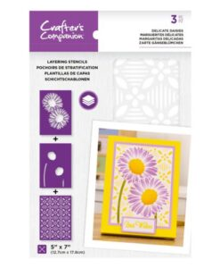 Layering Floral Stencil - Delicate Daisies