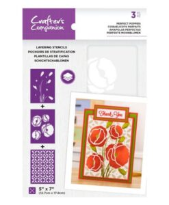 Layering Floral Stencil - Perfect Poppies