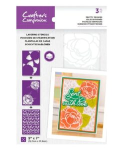 Layering Floral Stencil - Pretty Peonies