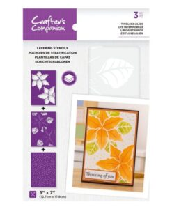 Layering Floral Stencil - Timeless Lilies