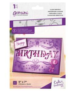 Gemini Cut & Emboss Folder – Classic Birthday