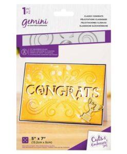 Gemini Cut & Emboss Folder – Classic Congrats