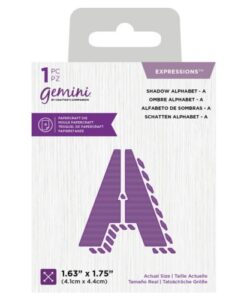 Gemini Expressions Die - Schaduw Letter A