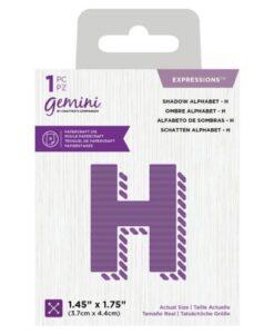 Gemini Expressions Die - Schaduw Letter H