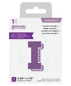 Gemini Expressions Die - Schaduw Letter I