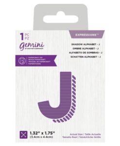 Gemini Expressions Die - Schaduw Letter J