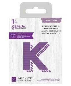 Gemini Expressions Die - Schaduw Letter K