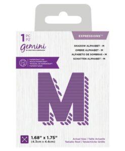 Gemini Expressions Die - Schaduw Letter M