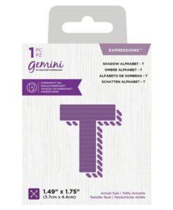 Gemini Expressions Die - Schaduw Letter T