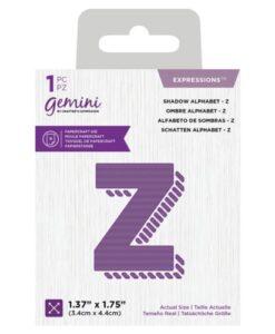 Gemini Expressions Die - Schaduw Letter Z