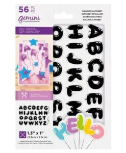 Gemini Stamp & Die - Balloon Alphabet