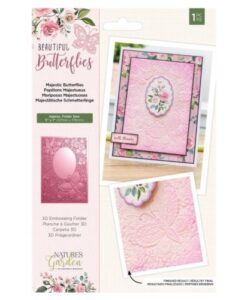 Beautiful Butterflies - Majestic Butterflies - 3D Embossing Folder