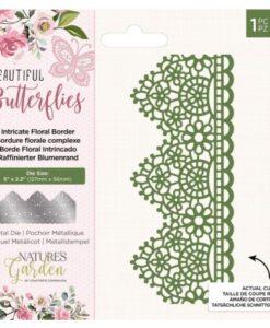 Beautiful Butterflies - Metal Die -Intricate Floral Border