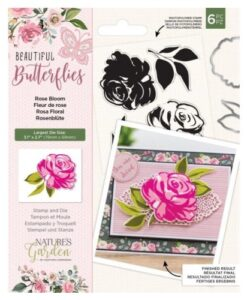 Beautiful Butterflies - Stamp and Die - Rose Bloom