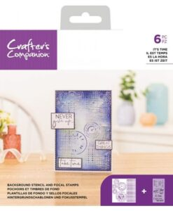 CC Stencil/Clearstamp Set - It's Time